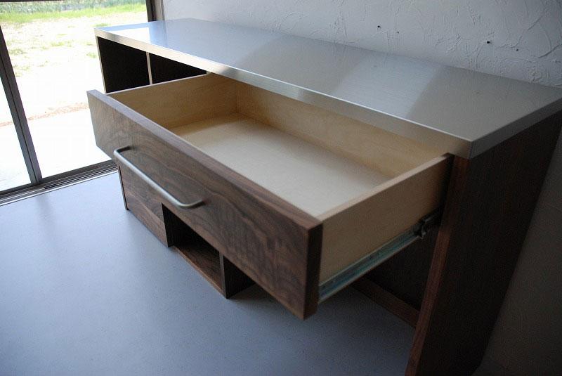 オープン棚の多いキッチンボード ウォールナット 769イメージ-1