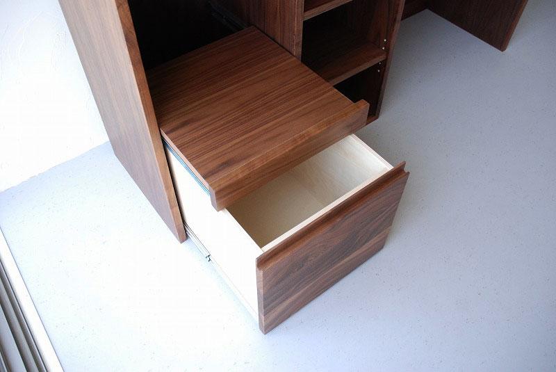 オープン棚の多いキッチンボード ウォールナット 769イメージ-2