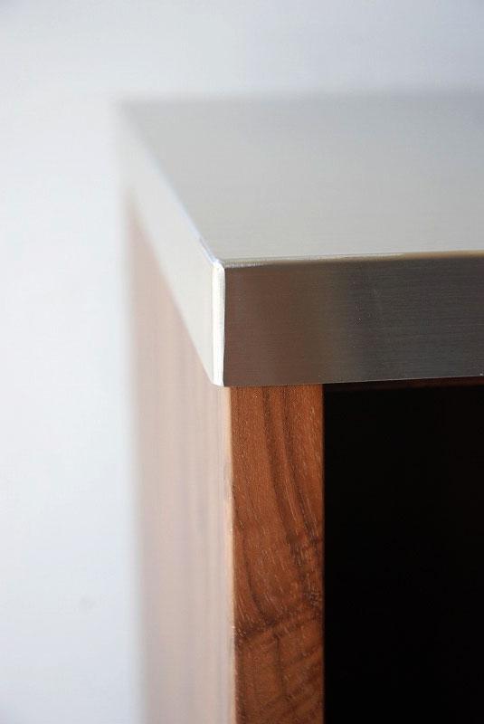 オープン棚の多いキッチンボード ウォールナット 769イメージ-4
