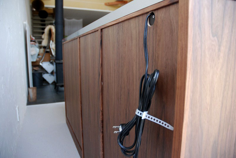 オープン棚の多いキッチンボード ウォールナット 769イメージ-6