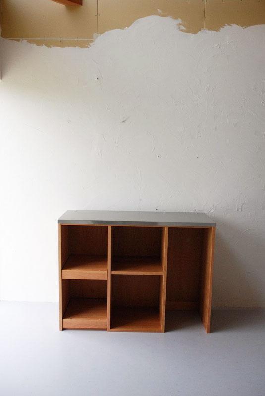 食器棚 分割できるステンレスのカウンター天板チェリー 742イメージ-5