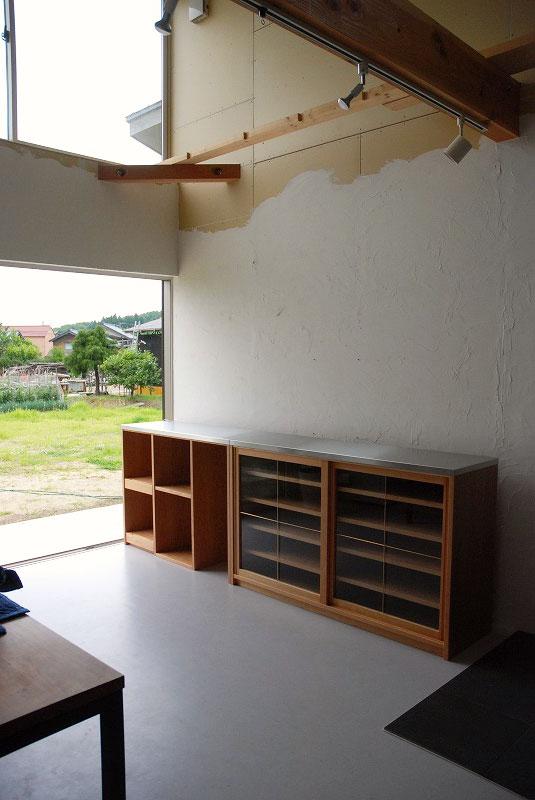 食器棚 分割できるステンレスのカウンター天板チェリー 742イメージ-1