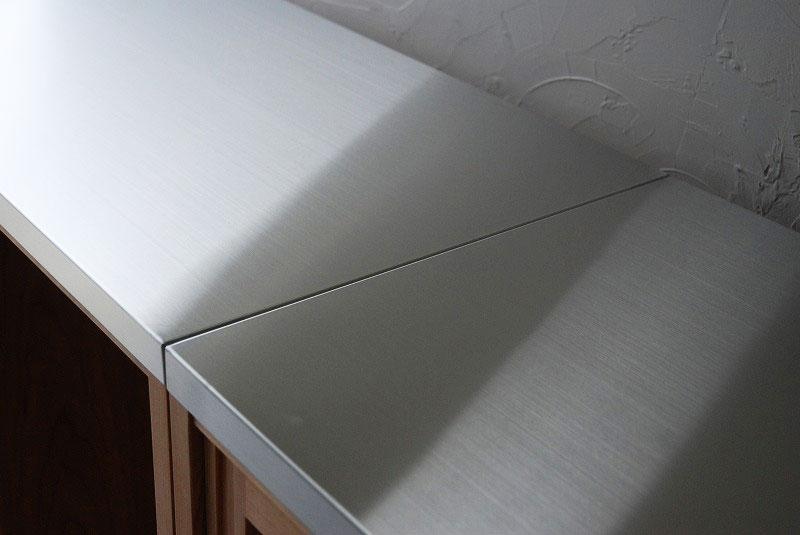 食器棚 分割できるステンレスのカウンター天板チェリー 742イメージ-4
