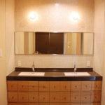 洗面収納/カウンター下収納 ナラ材・ウォールナット材 720