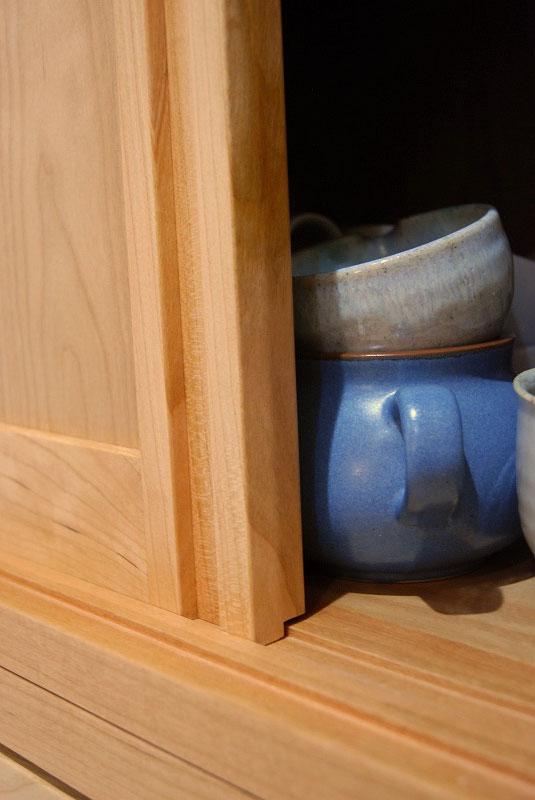 カップボード ハイタイプで引き戸 たっぷり食器収納 755イメージ-5
