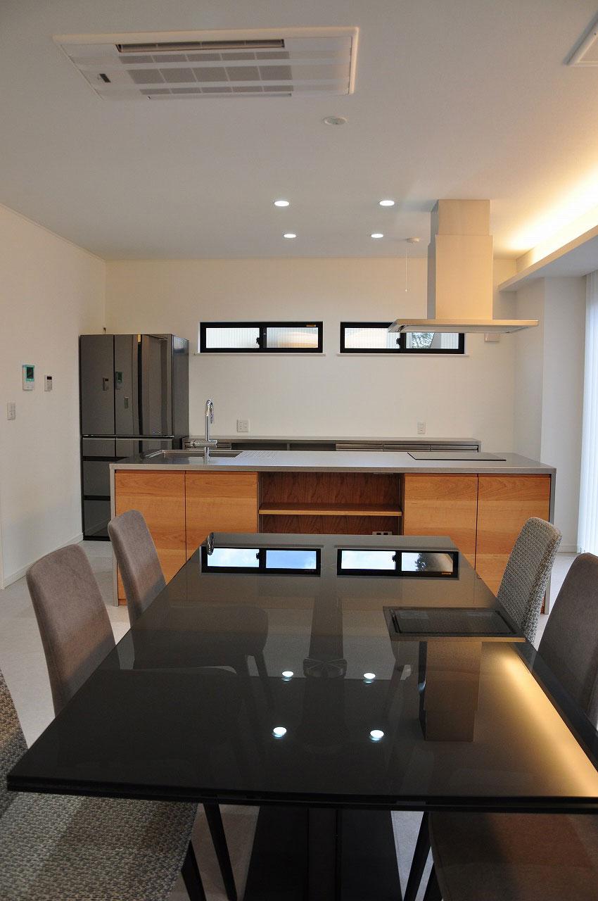 ステンレスオーダーキッチン チェリー無垢&壁面ステンテスボード 765イメージ-1