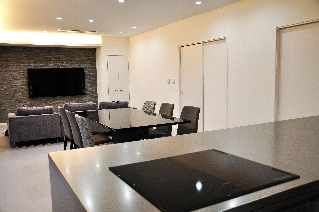 ステンレスオーダーキッチン チェリー無垢&壁面ステンテスボード 765イメージ-9