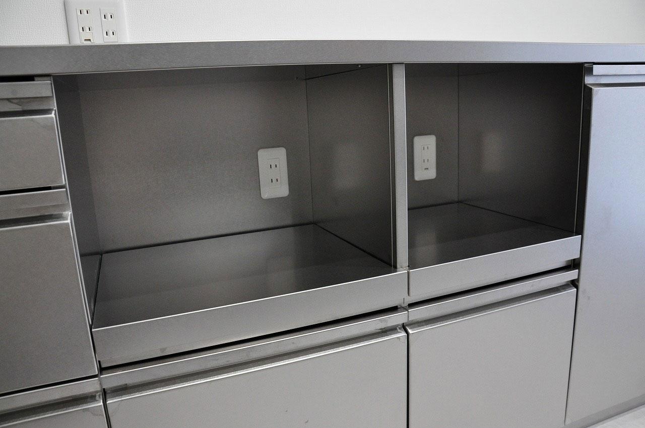ステンレスオーダーキッチン チェリー無垢&壁面ステンテスボード 765イメージ-14