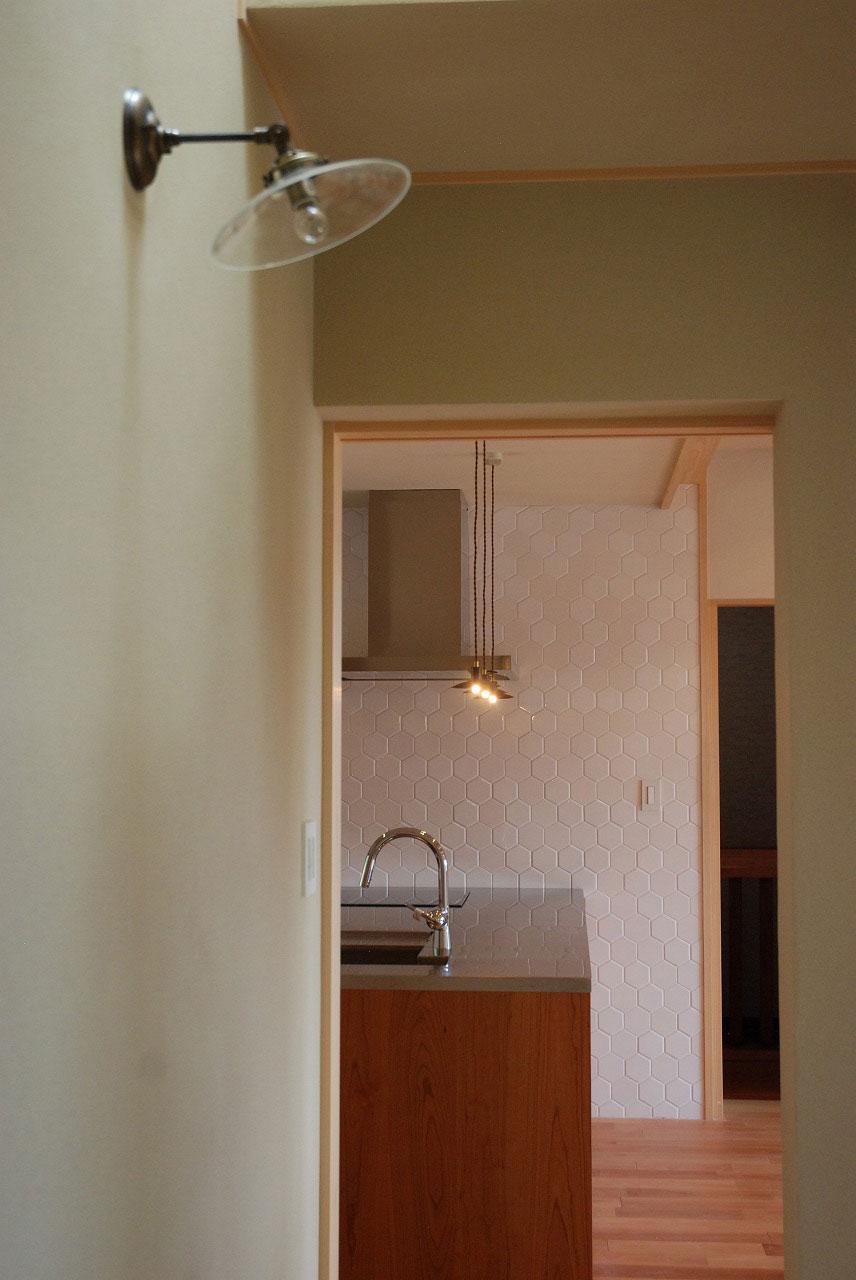オーダーキッチン チェリーの無垢天板キッチン収納カウンター 740イメージ-14