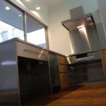 フルオーダーキッチン ステンレスとならの木 L型 5018