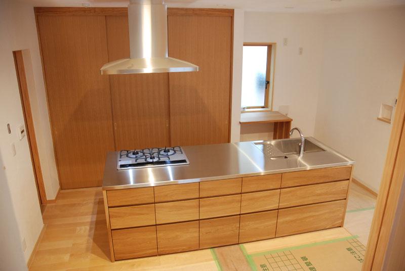 オーダーメードキッチン ガゲナウ食洗機とナラの木とステンレス 630