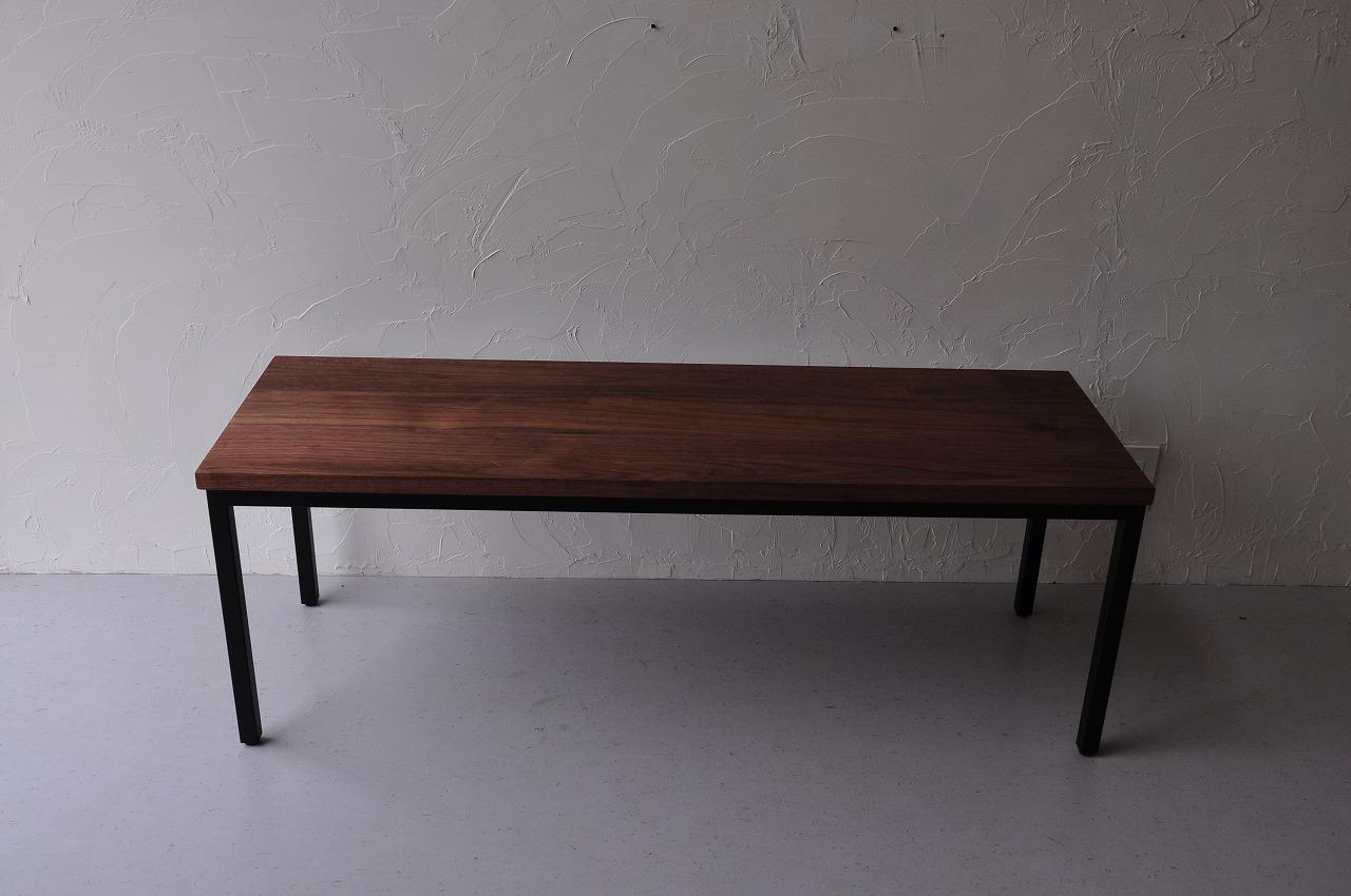 アイアン黒脚のダイニングテーブルセットをベンチで 3038イメージ-3