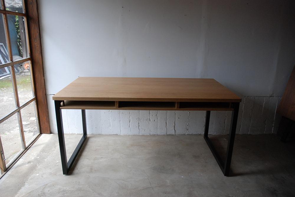 テーブル天板の角を丸くした棚付きダイニングテーブル 3039イメージ-2