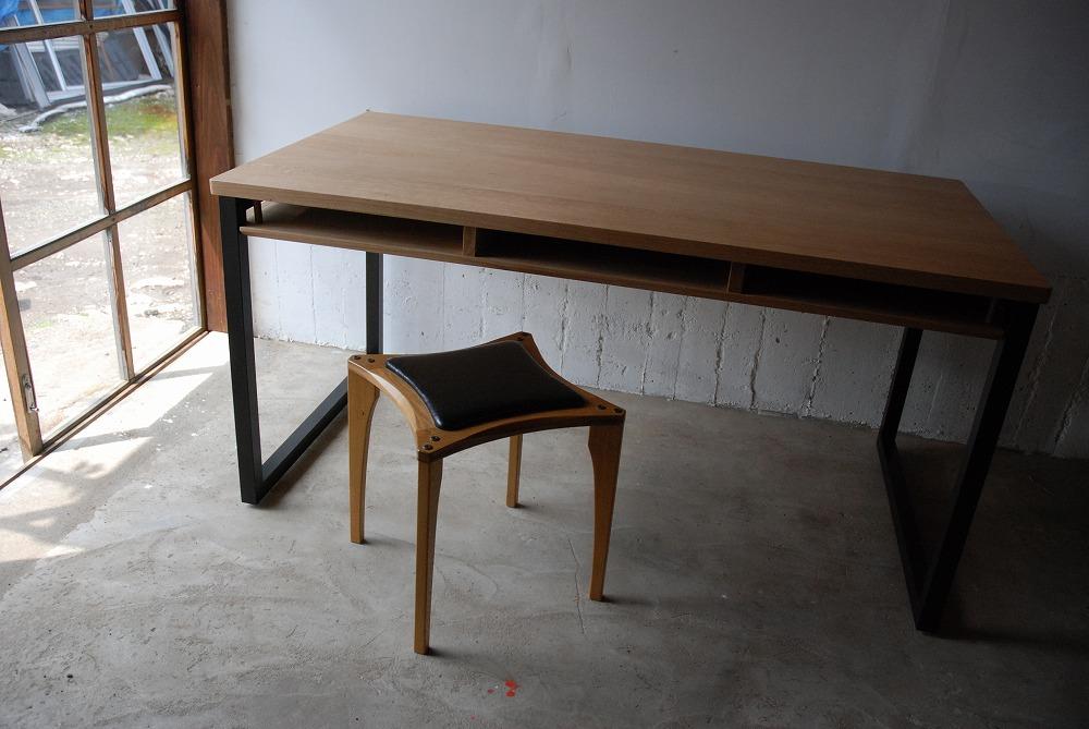 テーブル天板の角を丸くした棚付きダイニングテーブル 3039イメージ-6