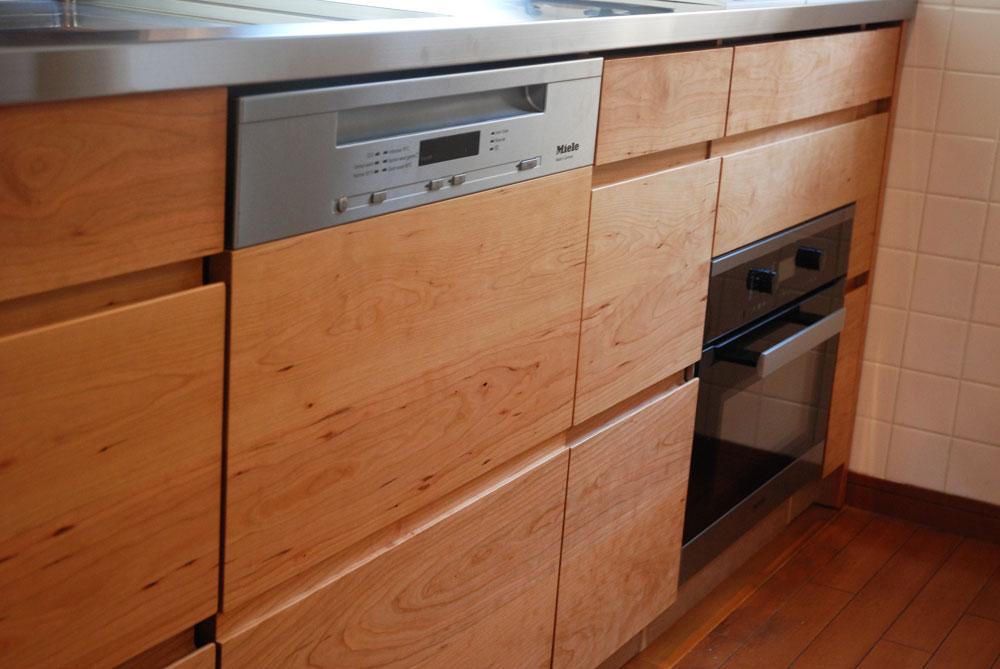 ガゲナウのIHとガスコンロの両方とミーレの電子レンジオーブンのあるキッチンリフォーム no.5062イメージ-14