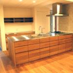 グローエ・グラシア電解水素整水器がついて水切りエリアのあるオーダーシンクのキッチン no.5065