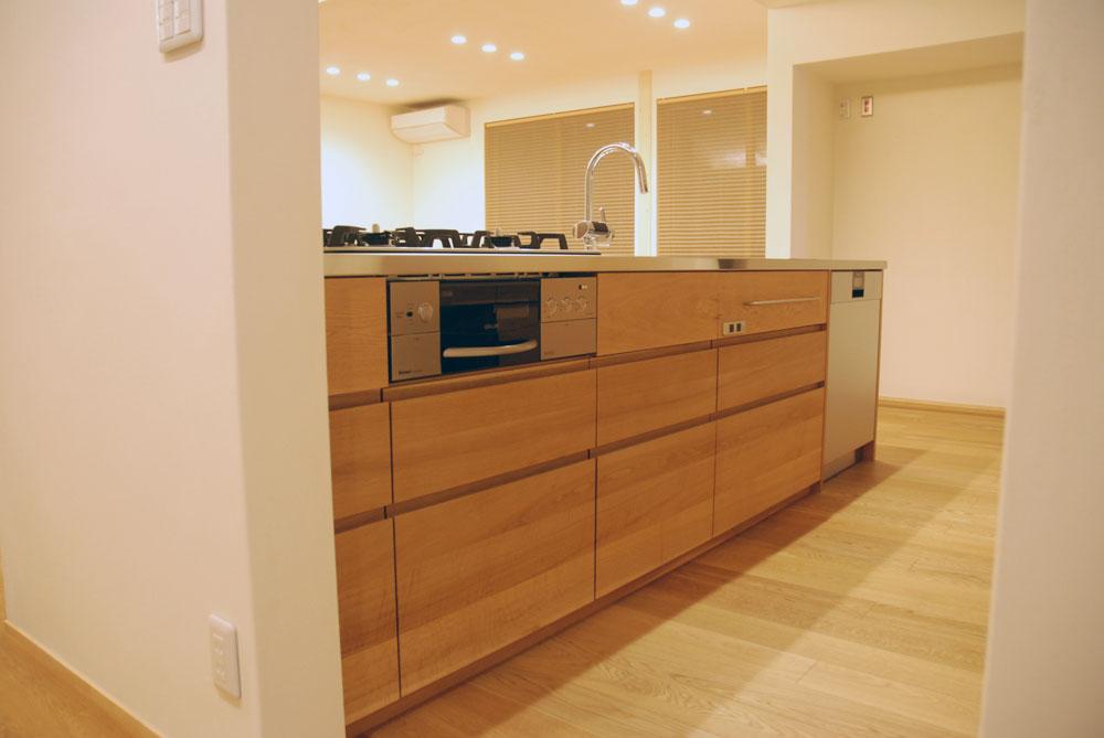 グローエ・グラシア電解水素整水器がついて水切りエリアのあるオーダーシンクのキッチン no.5065イメージ-1