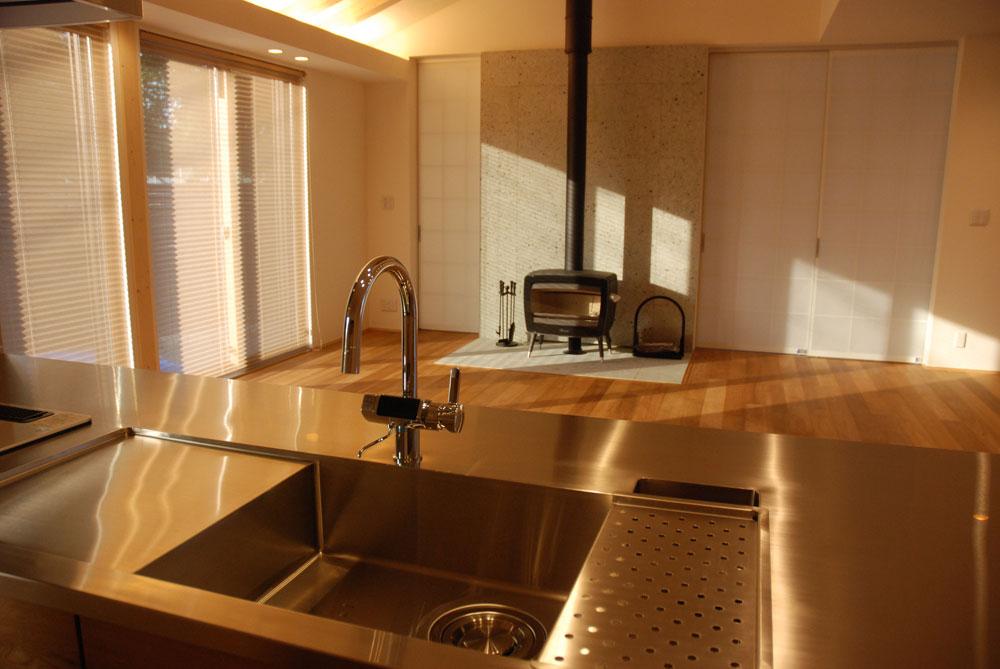グローエ・グラシア電解水素整水器がついて水切りエリアのあるオーダーシンクのキッチン no.5065イメージ-10