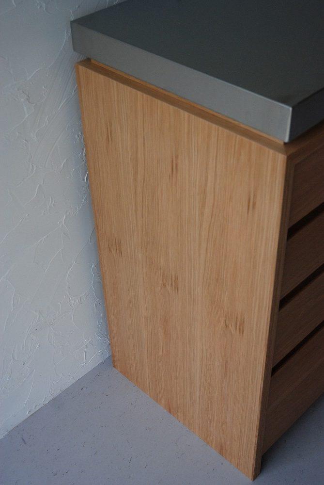 背板にコンセント穴のあるバイブレーションサンダーステンレスの食器棚 5069イメージ-6