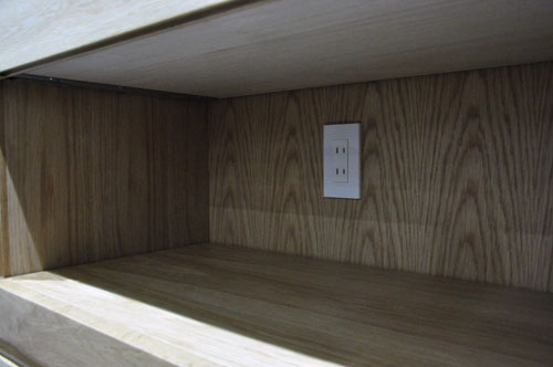 チェッカーガラスの引き戸の吊戸棚のあるキッチン背面収納 5076イメージ-7