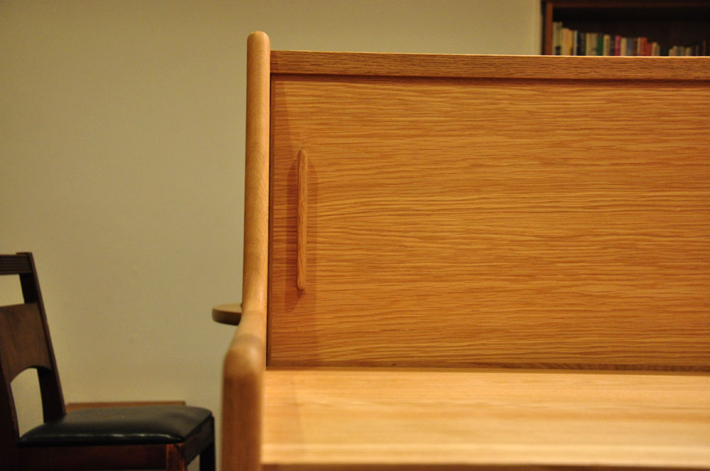ダイニングとキッチンの間の壁にもなる、両面から取り出せるアイランド型の食器棚 5078イメージ-7