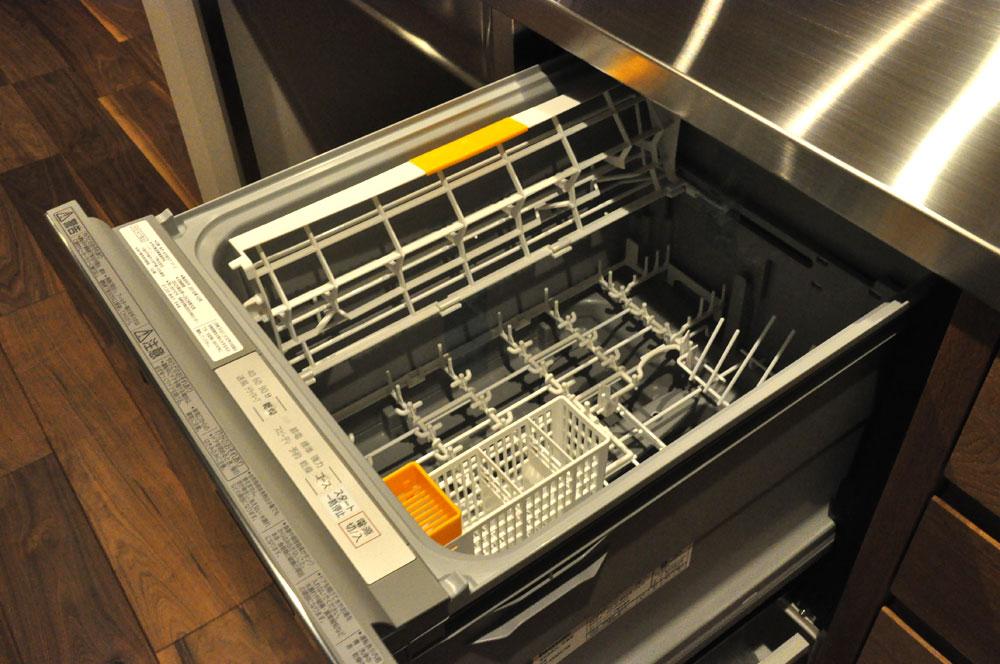 フレームキッチンに食洗機と引出し4段と調味料ワイヤーラックを追加。5077イメージ-4