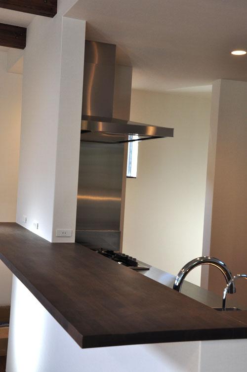 フレームキッチンに食洗機と引出し4段と調味料ワイヤーラックを追加。5077イメージ-3