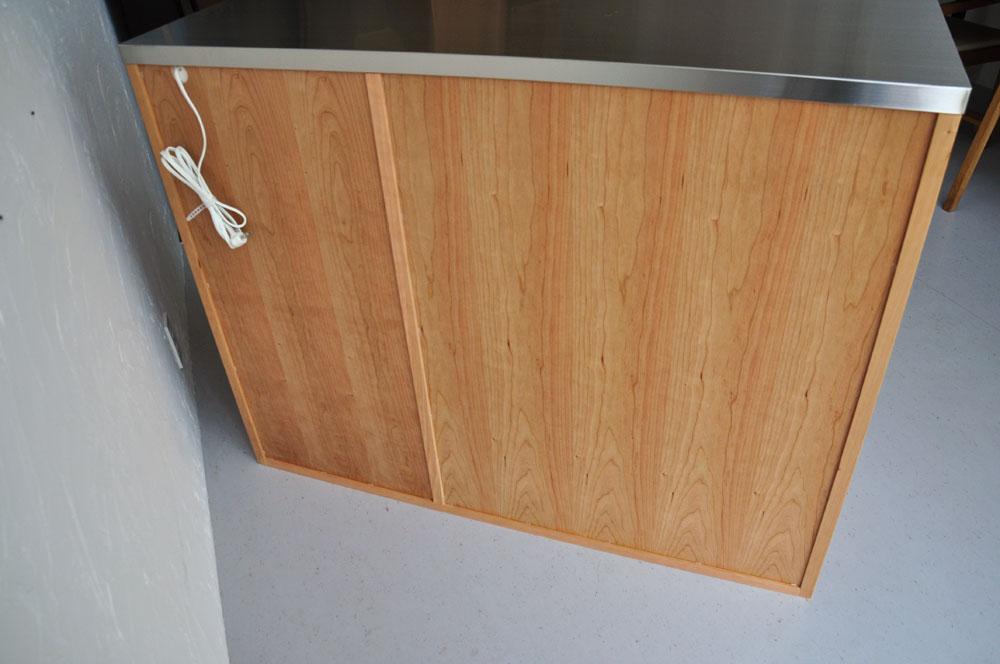 5段引出しと炊飯器置き場スライド引き出し棚のある背が高めのキッチンボード 5080イメージ-8
