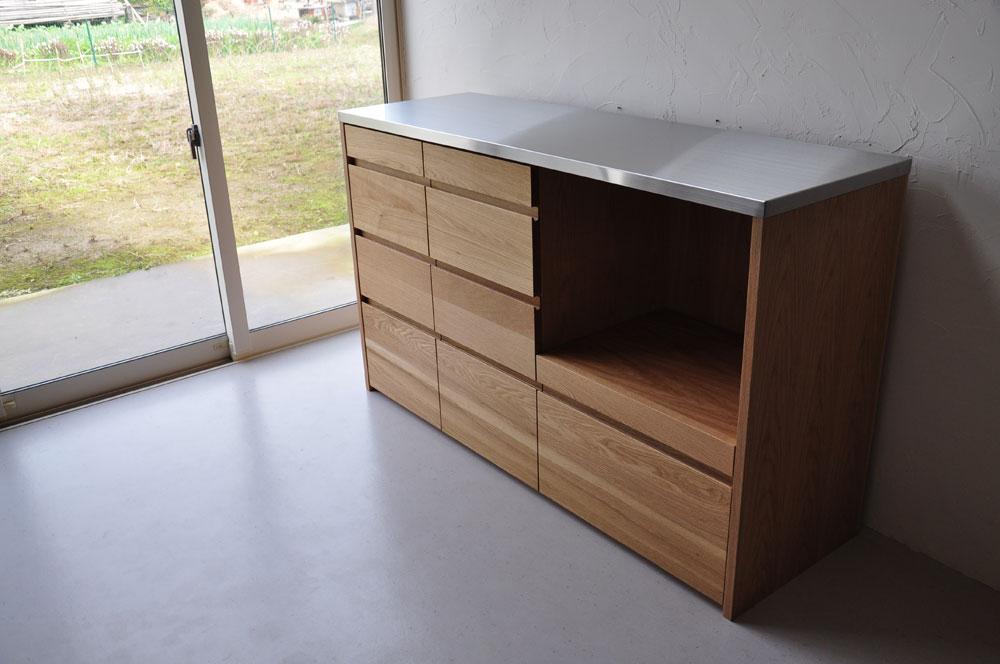 皿を縦置き収納できる、仕切板たくさんの引出しカップボード 5082イメージ-11