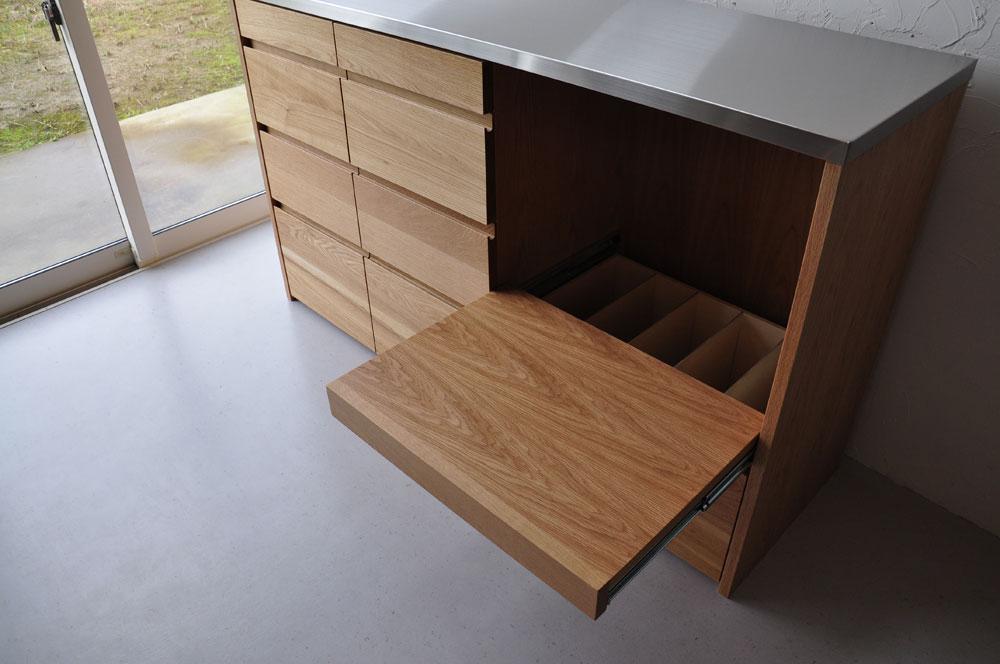 皿を縦置き収納できる、仕切板たくさんの引出しカップボード 5082イメージ-6