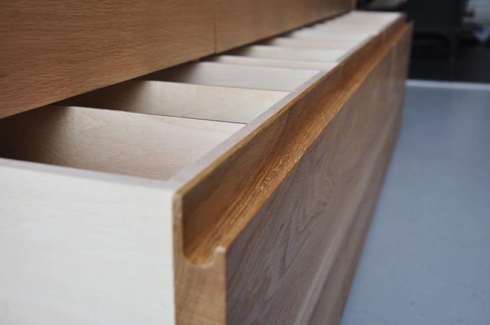 皿を縦置き収納できる、仕切板たくさんの引出しカップボード 5082イメージ-10