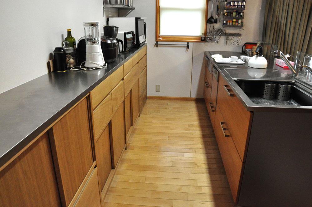 システムキッチンのパネル交換としてのオーク材パネル上張り 5084イメージ-5