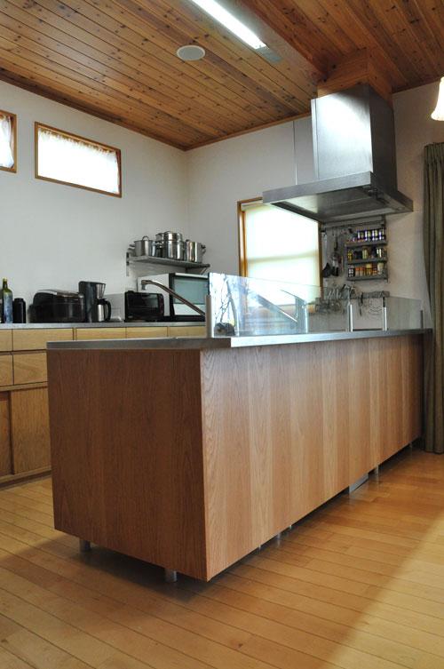 システムキッチンのパネル交換としてのオーク材パネル上張り 5084イメージ-1