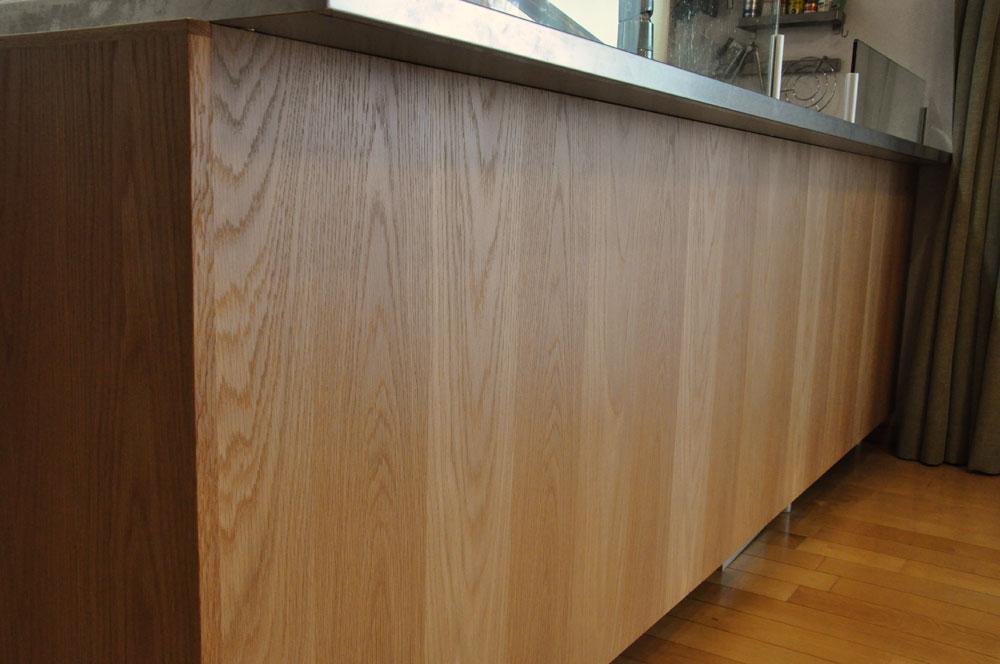 システムキッチンのパネル交換としてのオーク材パネル上張り 5084イメージ-2