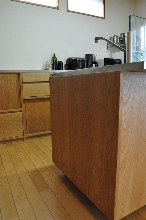 システムキッチンのパネル交換としてのオーク材パネル上張り 5084イメージ-3