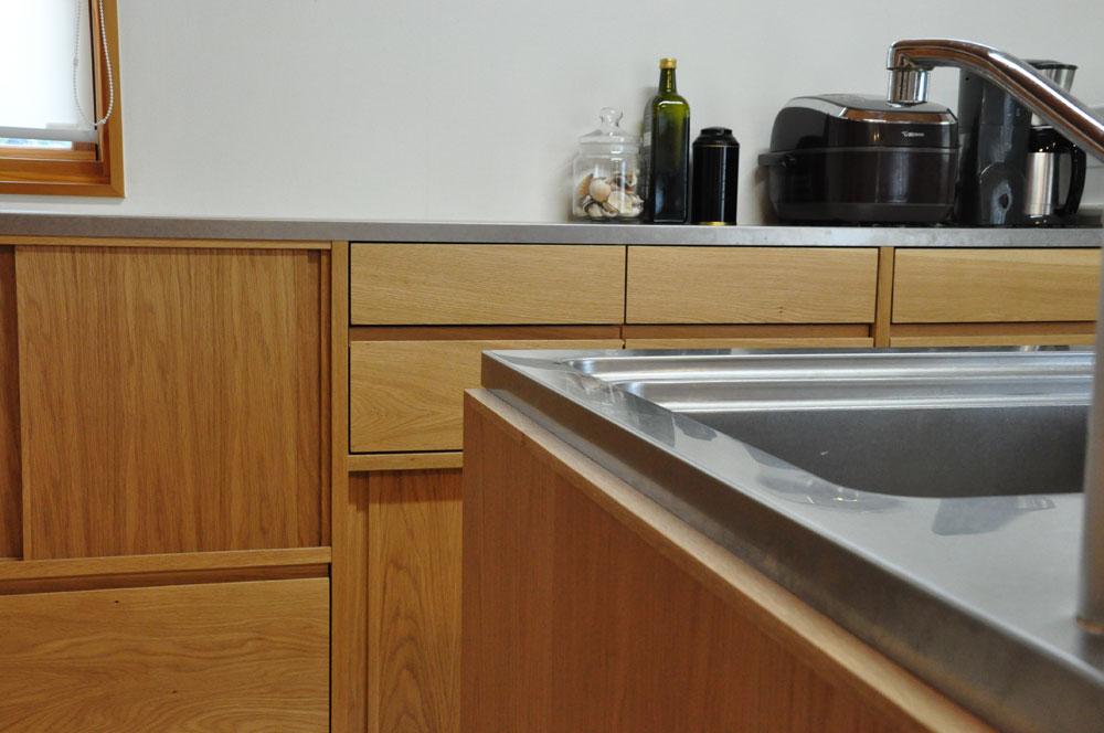 システムキッチンのパネル交換としてのオーク材パネル上張り 5084イメージ-4