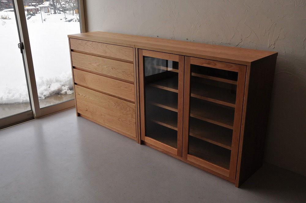 引出しチェストとガラス扉の食器棚を分割して使えるように製作 no.5087イメージ-3