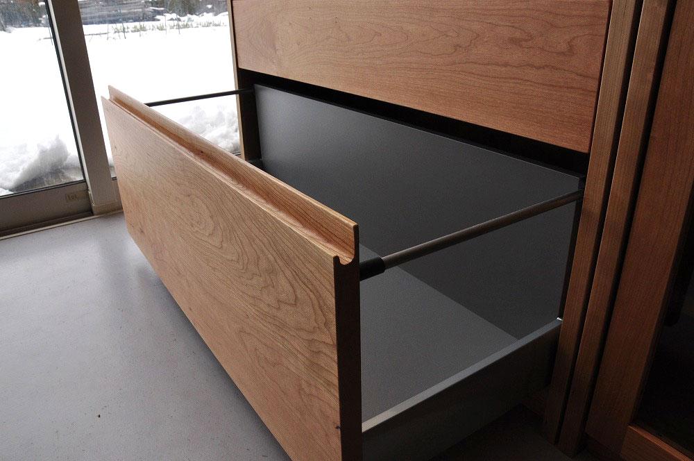 引出しチェストとガラス扉の食器棚を分割して使えるように製作 no.5087イメージ-6