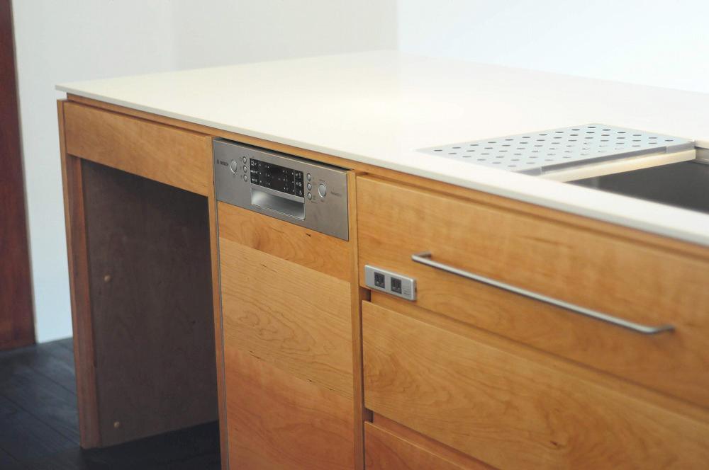 クォーツストーン天板の2型キッチン シンクとコンロをセパレート 5088イメージ-10