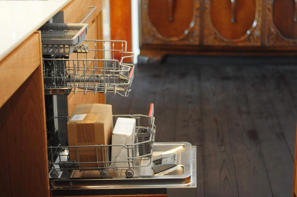 クォーツストーン天板の2型キッチン シンクとコンロをセパレート 5088イメージ-11