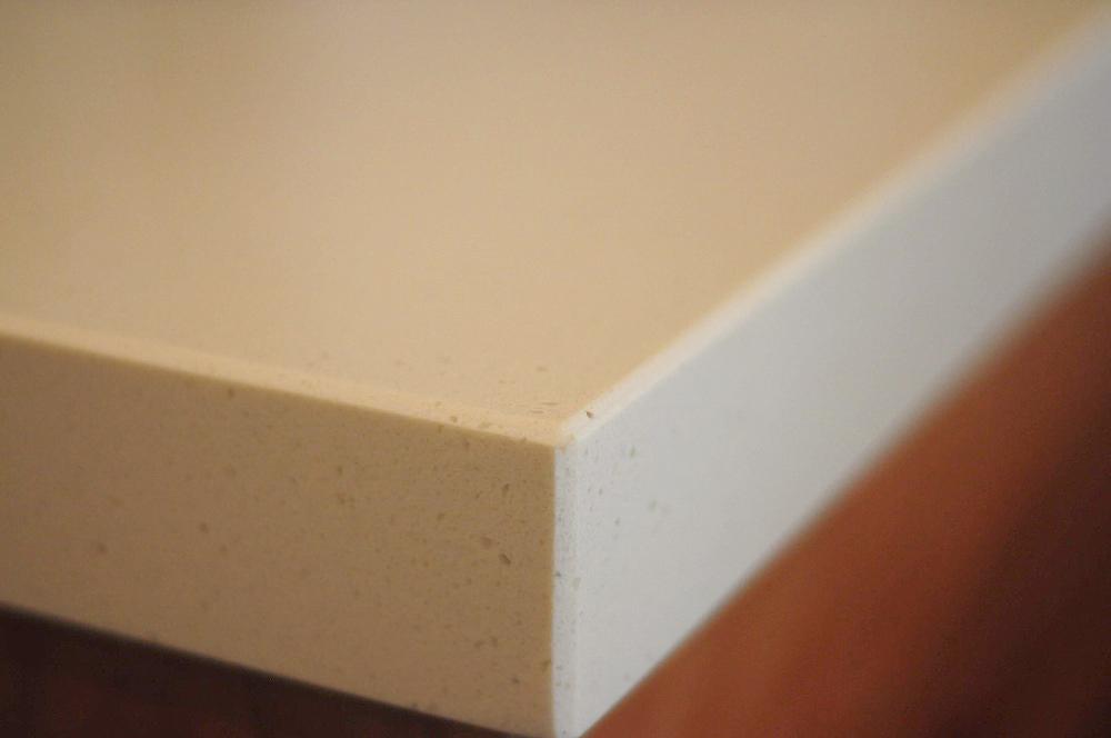 クォーツストーン天板の2型キッチン シンクとコンロをセパレート 5088イメージ-14
