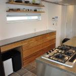 2.7mのキッチンカウンター オールステンレスキッチンと合わせたM様 5090