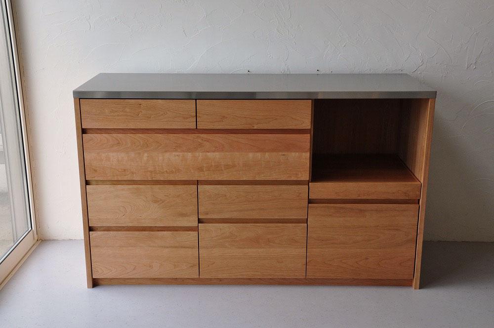 引出収納の高さも幅も全部オリジナルサイズのキッチンボード 5093