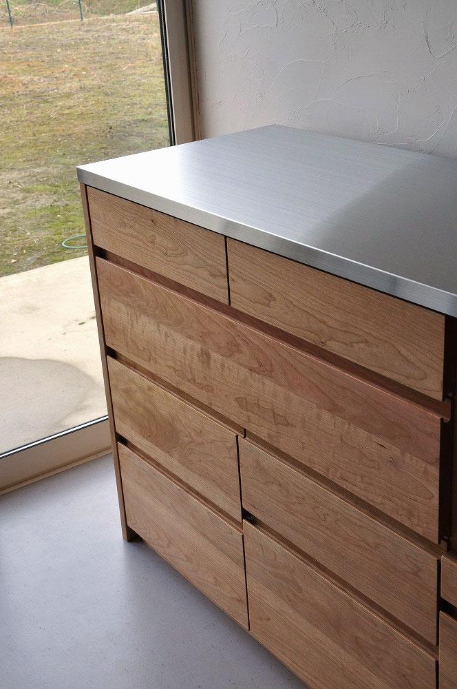 引出収納の高さも幅も全部オリジナルサイズのキッチンボード 5093イメージ-2