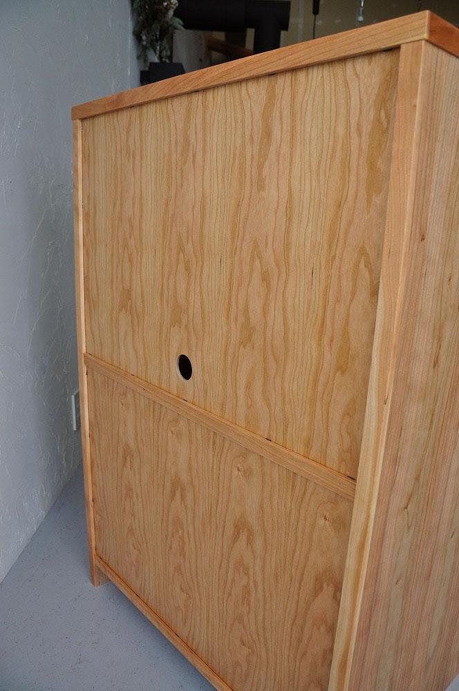 木の天板の奥行50cmレンジ台をオーダーサイズで N様 5092イメージ-2
