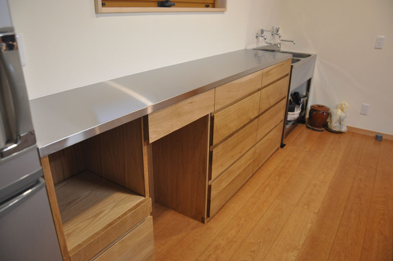 2層シンクと並べて使う吊戸棚と食器棚 5095イメージ-3