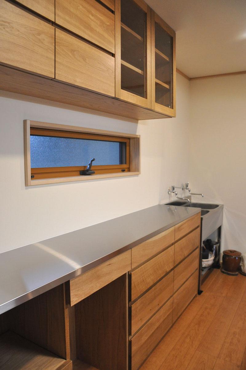 2層シンクと並べて使う吊戸棚と食器棚 5095イメージ-2