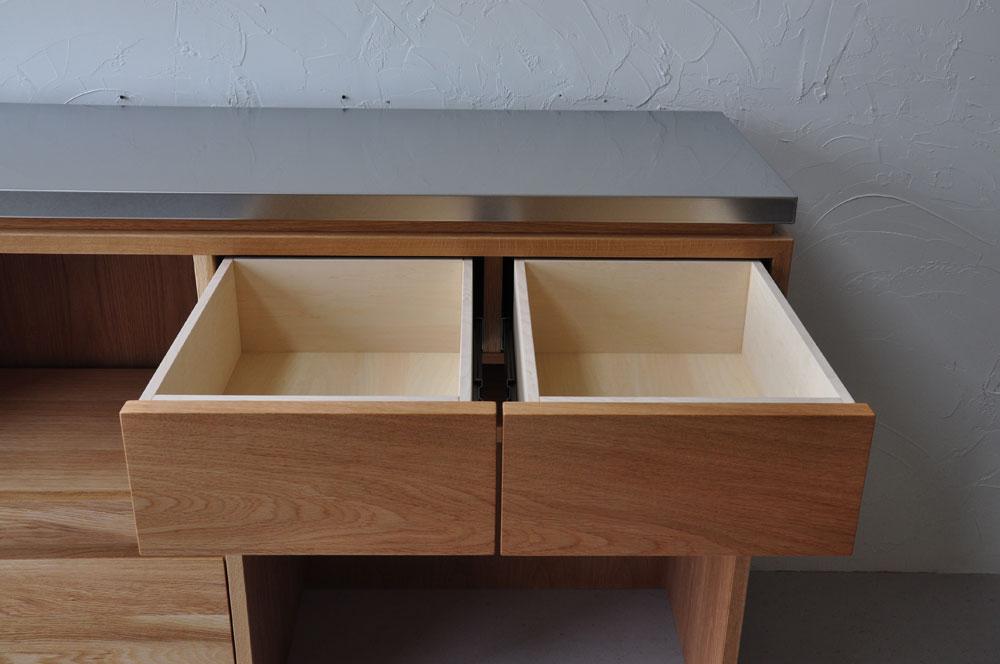 電子レンジとゴミ箱を置けるコンセントを使えるセンターカウンター 5097イメージ-5