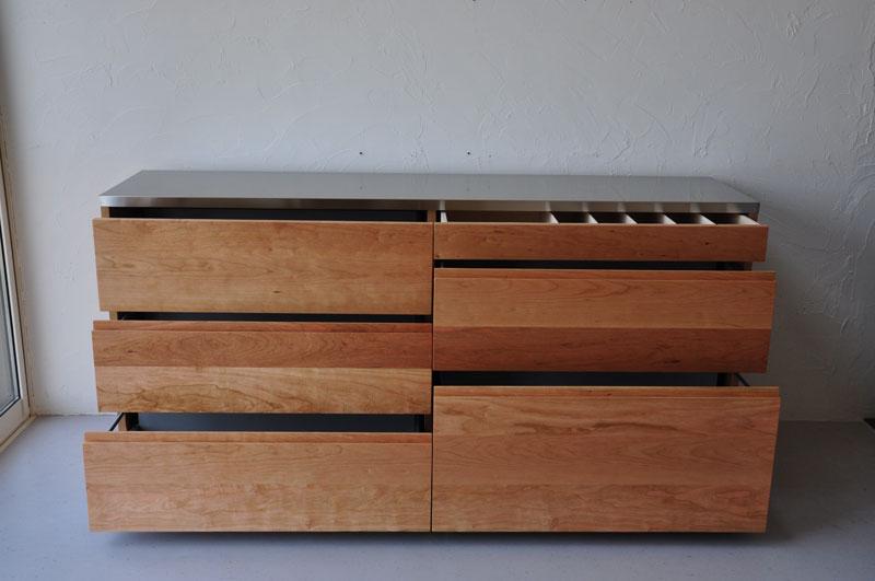 引出しのサイズが全部違う180cmの食器棚 5098イメージ-5