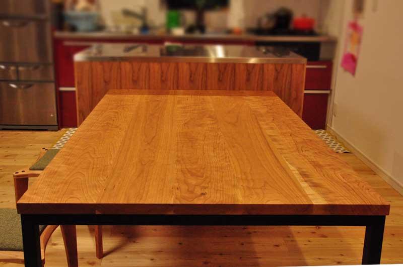 3方向から収納できるアイランドカウンター食器棚とダイニングテーブルとスツール 5099イメージ-6